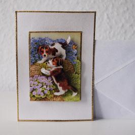 Artikel-Nr. 37H - 3D-Grußkarte Motiv Hunde