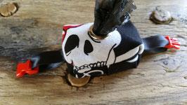 Artikel-Nr. 051E - Kotbeutel-Täschchen schwarz-weiß Totenkopf