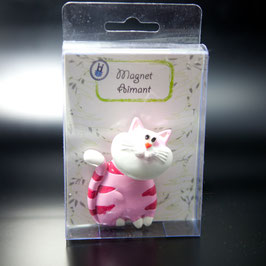 Artikel-Nr. 012A Wackelkopfmagnet Katze rosa