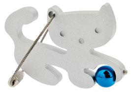 Artikel-Nr. 018B Schlüsselanhänger Katze mit Ball