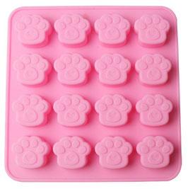 Artikel-Nr. 052A Silikonform Pfote für 16 Kekse oder Schoko-Pralinen