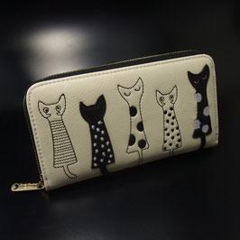 Artikel-Nr. 22 F - Geldbörse mit Katzenmotiv