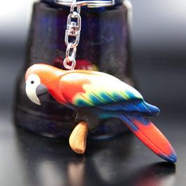 Artikel-Nr. 015H - Holzanhänger, Papagei
