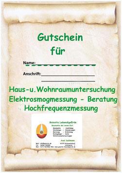 Gutschein - Haus und Wohnraumuntersuchung