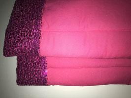 Bandagierunterlagen pink mit Pailleten Bordüre pink