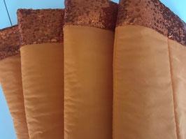 Bandagierunterlagen orange mit Pailleten Bordüre orange