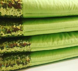 Bandagierunterlagen lime mit Pailleten Bordüre