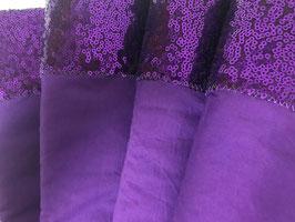 Bandagierunterlagen violett mit Pailleten Bordüre violett