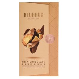 Tablette au chocolat au lait crunchy biscuits