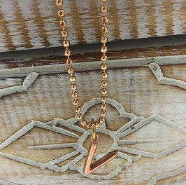 Diamantschliffkette mit Buchstaben