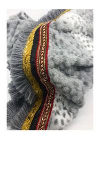 Fake Fur Poncho Tuch