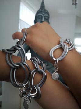Armband GELI in Stahl matt und Silber