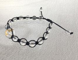 商品名:金龍彫りの水晶ブレスレット RN014