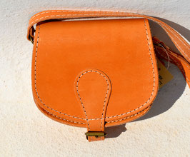 Handmade leather mini purse handbag