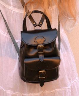 Handmade leather mini backpack