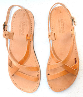 f4672fdb4692b8 The natural leather is originally lighter and will change with exposure to  sunlight from the light colored sandals to a golden brown color.