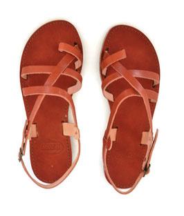 Zehenring Sandalen mit durchgehendem Lederband