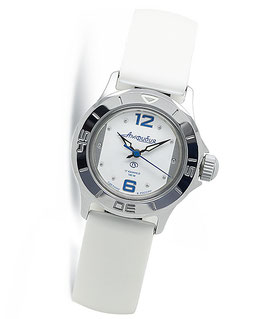 """Russian women's watch """"AMPHIBIA"""" by VOSTOK, chrome plated, polished, ø34mm"""