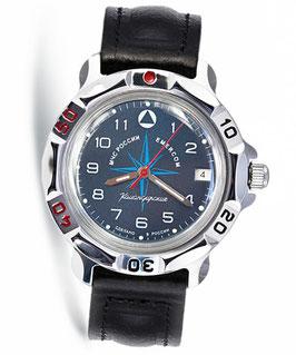 "Russian hand-winding watch KOMANDIRSKIE ""SAILING"" by VOSTOK, polished, ø40mm"