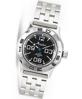 Automatik Uhr Taucheruhr AMPHIBIA K-10 von VOSTOK, 200m wasserdicht, Edelstahl, poliert, ø42mm