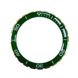 Bezel with green insert for VOSTOK KOMANDIRSKIE watches, stainless steel