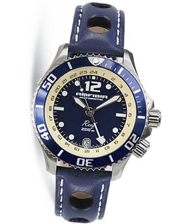 """Automatik wrist watch """"AMFIBIA REEF"""" with additional 24hr time and inner bezel by VOSTOK, 200m water proof, stainless steel, polished, ø42mm"""