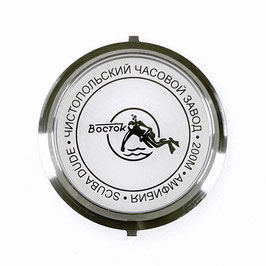 Glass case back (large) SCUBA DUDE for classical Russian VOSTOK AMPHIBIA watches, stainless steel + mineral glass, 200m waterproof