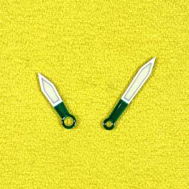 Grün - weiße Zeiger mit SuperLumiNova für AMPHIBIA und KOMANDIRSKIE Uhren von VOSTOK