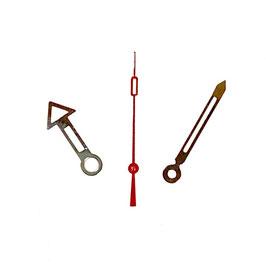 Zeiger für VOSTOK KOMANDIRSKIE und AMPHIBIA Uhren mit einem 24-er Werk, vernickelt, rote Sekunde, Leuchtmasse SET06