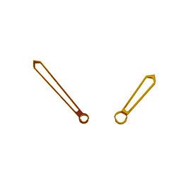 Goldene Schwertzeiger 1 mit SuperLumiNova für AMPHIBIA und KOMANDIRSKIE Uhren von Vostok
