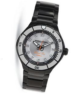 "Automatik diver watch ""AMFIBIA BLACK SEA"" by VOSTOK, 200m water proof, stainless steel, black PVD coated, ø42mm"