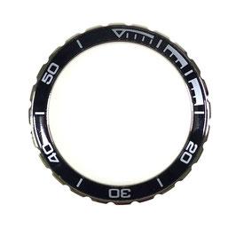 Bezel with black insert for VOSTOK KOMANDIRSKIE watches, stainless steel