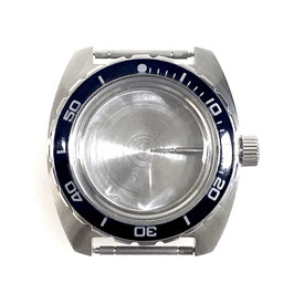 Case 170 for VOSTOK AMPHIBIA watches with polished bezel, stainless steel, brushed, complete