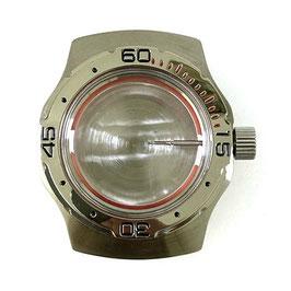 Gehäuse 160 für VOSTOK AMPHIBIA Uhren von VOSTOK, Edelstahl, gebürstet, komplett