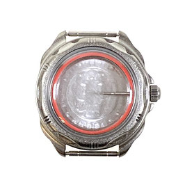 Case 216 for VOSTOK KOMANDIRSKIE hand winding watches, titanium carbonitride plated, ssatined, complete