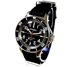 """Russische """"AMPHIBIA SNIPER"""" von Vostok-Watches24, Automatik, Edelstahl, poliert, ø40mm"""