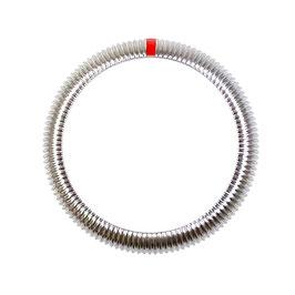 Geriffelte SwissChrono Lünette (L rot) für VOSTOK AMPHIBIA KOMANDIRSKIE Uhren von VOSTOK, Edelstahl, poliert