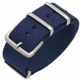 20mm NATO Armband Nylon blau (NATO02-20mm)