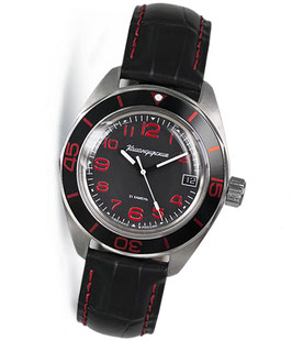 "Automatik watch ""KOMANDIRSKIE K-03"" by VOSTOK, stainless steel, brushed, ø42mm"