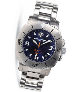 "Automatik diver watch ""AMFIBIA RED SEA"" by VOSTOK, 200m water proof, stainless steel, brushed, ø42mm"
