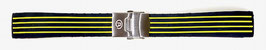 18mm VOSTOK silicone strap, black with yellow stripes