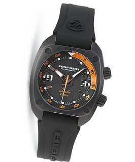 """Automatik diver watch """"AMFIBIA SCUBA"""" by VOSTOK, 200m water proof, stainless steel, black PVD coated, ø41mm"""