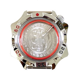 Case 531 for VOSTOK KOMANDIRSKIE hand winding watches, chrome plated, polished, complete