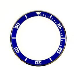 Bezel with dark blue insert for VOSTOK KOMANDIRSKIE watches, stainless steel, LÜ-INS-63