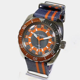 VOSTOK AMPHIBIA automatic watch with SuperLumiNova and NATO strap by VOSTOK-Watches24, stainless steel, polished, ø41,5mm