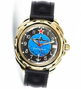 """Armbanduhr KOMANDIRSKIE """"U-Boot Kapitän"""" von VOSTOK, poliert, Titannitrid beschichtet, ø40mm"""