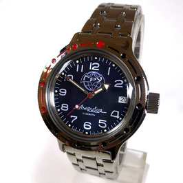 """VOSTOK AMPHIBIA """"GRU"""" automatic watch by VOSTOK, 200m water proof, stainless steel, polished, ø40mm"""