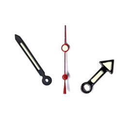 Zeiger für VOSTOK KOMANDIRSKIE und AMPHIBIA Uhren mit einem 24-er Werk, schwarz, rote Sekunde, Leuchtmasse SET03