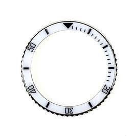 Lünette mit weißem Keramik - Insert für VOSTOK AMPHIBIA KOMANDIRSKIE Uhren von VOSTOK, Edelstahl, ø40,0mm