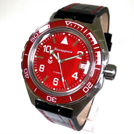 Russian automatic pilots watch VOSTOK KOMANDIRSKIE K-65 with glass back by VOSTOK, stainless steel, brushed, ø42mm